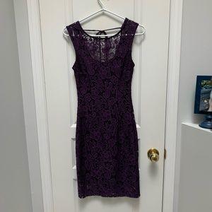 LE CHATEAU | Lace Overlay Dress